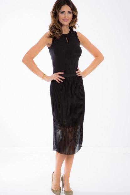 Černá tylová midi sukně