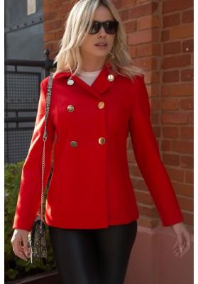 Elegancka kurtka damska czerwona 0350