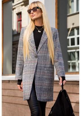 Klasyczny płaszcz w kratkę 95687
