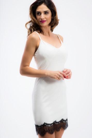 Kremowa bieliźniana sukienka TA6124