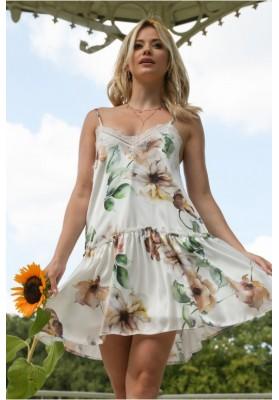 Sukienka bieliźniana w kwiaty 10240
