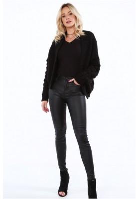 Sweter z wzorami na rękawie 0368