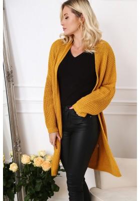 Długi sweter damski 0369