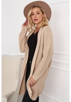 Modny długi sweter 0369