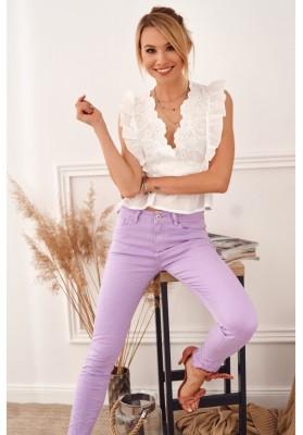 Stylové kalhoty v krásné fialové barvě