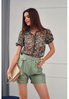 Krátké šortky s dvěma bočními kapsami, khaki