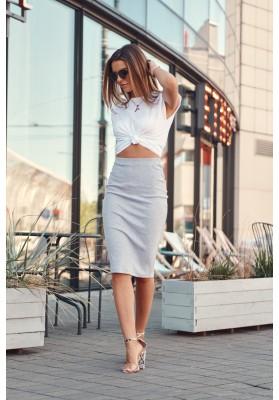Nadčasová sukně / šaty pouzdrového střihu, šedá
