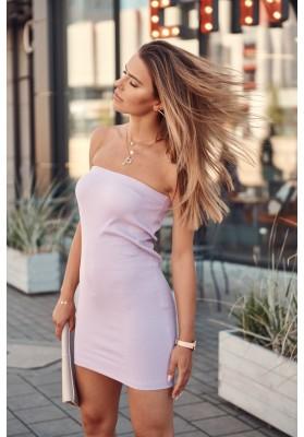 Nadčasová sukně / šaty pouzdrového střihu, fialová