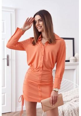Jemné, nadčasové šaty, oranžové