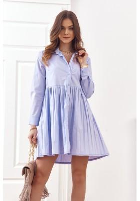 Oversize, košilové šaty se zapínáním na knoflíky, fialová