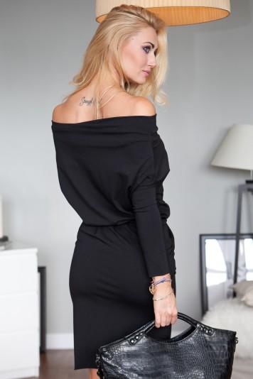 Sukienka midi czarna 9773