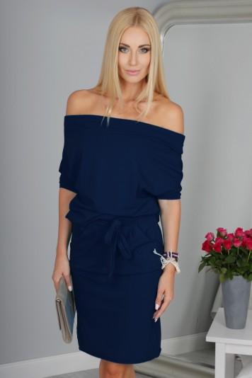 Sukienka Granatowa 9978