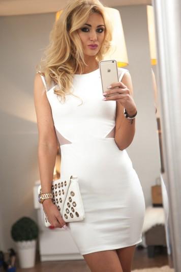 Sukienka mini kremowa 9633