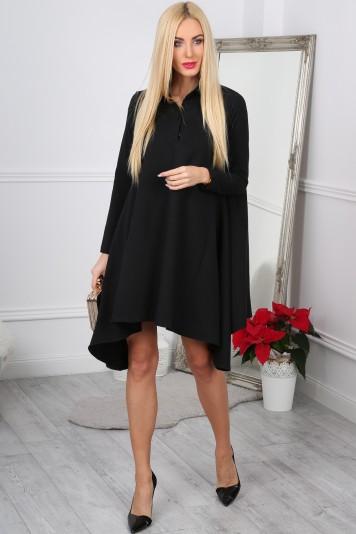 Czarna Sukienka Oversize 11030