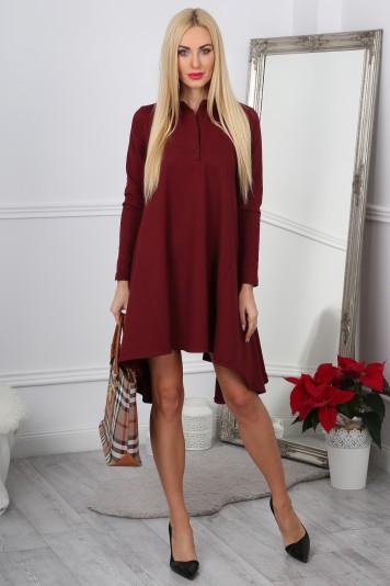 Bordowa Sukienka Oversize 11030