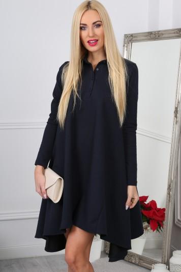 Granatowa Sukienka Oversize 11030