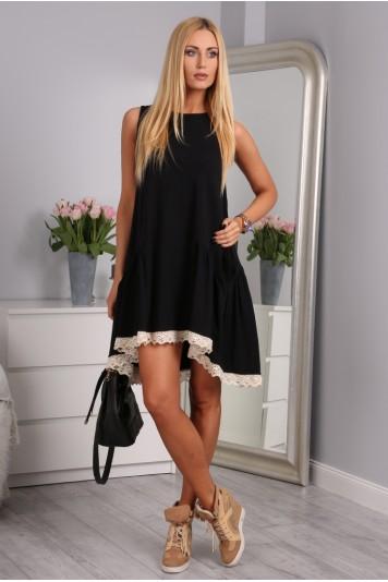 Černé šaty bavlněné
