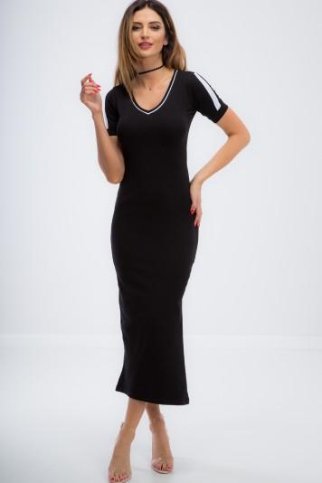 Czarna długa sportowa sukienka 3377