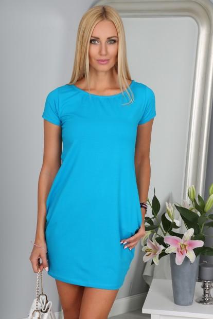 2e911152b795 Sportovní modré šaty Velikost L