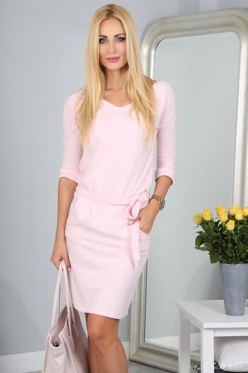 Sukienka Bladoróżowa 9729