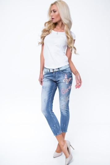 Spodnie jeansowe z motylem R6811
