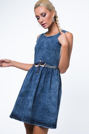 Sukienka jeansowa z ważką 1646