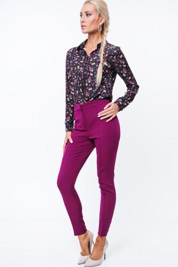 Spodnie eleganckie fioletowe MP44422