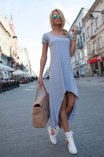 Sukienka Jasnoszara 9865