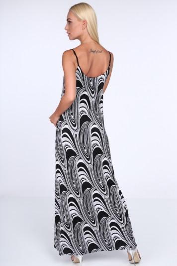 Dámské šaty s černo-bílým vzorem 91846fc6b9