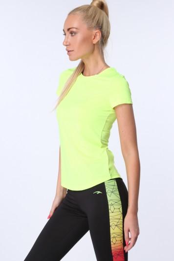 T-shirt sportowy fluo żółty MR16620