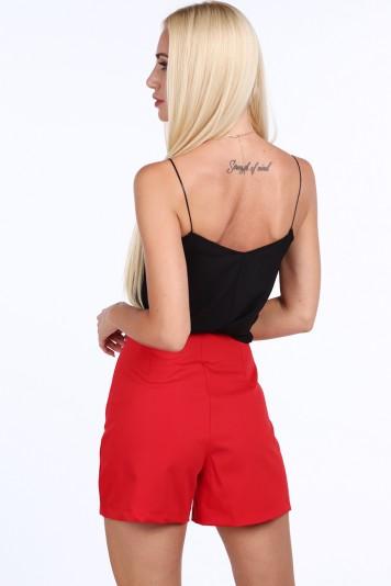 Spodenki eleganckie czerwone 202050