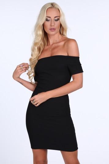 235b11a4566f Dámské černé šaty s odhalenými rameny