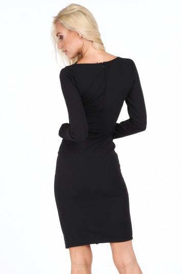 Sukienka z dekoltem typu woda czarna 1888