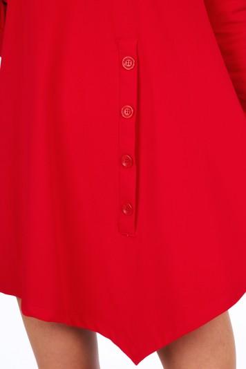 Czerwona sukienka na co dzień 4034