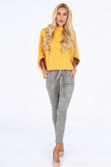 Musztardowa bluzka oversize 0204