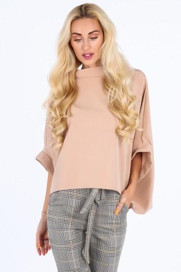 Beżowa bluzka oversize 0204