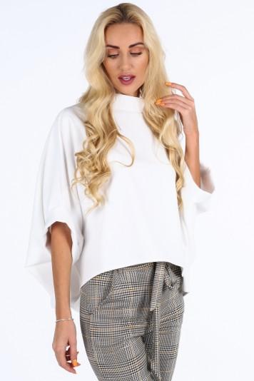 Kremowa bluzka oversize 0204