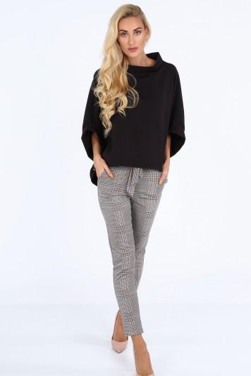 Czarna bluzka oversize 0204