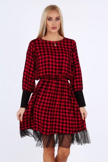 Czerwona sukienka na co dzień 18960