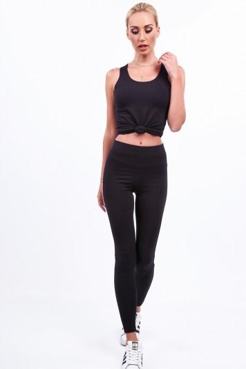 Czarne legginsy na co dzień 0088
