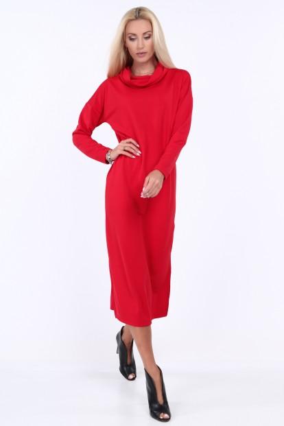 Červené šaty s širokým límcem - FASARDIofficial.cz Velikost XL 42a2be01e38