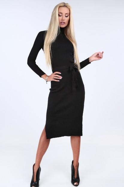 4dda05a302e Czarna sukienka swetrowa z golfem 2008