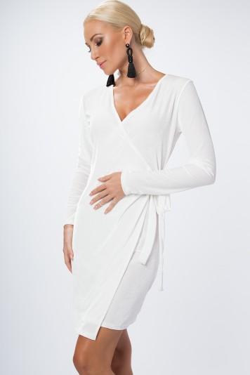 Sukienka zakładana biała 1467