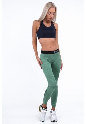 Zielone ocieplane legginsy sportowe MR12813