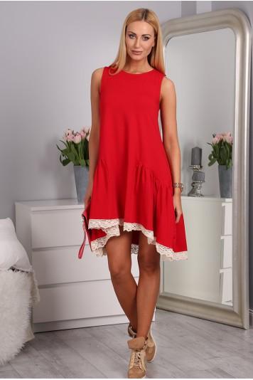 Červené šaty bavlněné