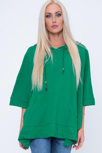 Bluza ponczo zielona MP17411
