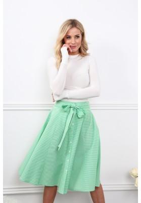 Lemovaná sukně v zelené barvě