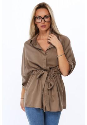 Pohodlné šaty z tenké tkaniny, vínové