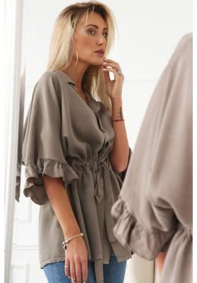 Bavlněné šaty se zipem vpředu a stojanovým límcem na výstřihu, navy