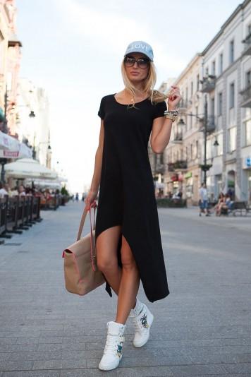 Sukienka Czarna 9865